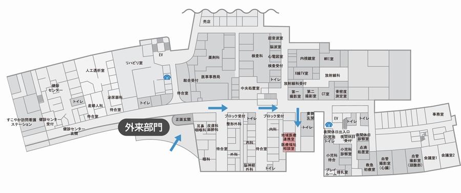 医療・福祉相談室(地域医療連携室)の配置図