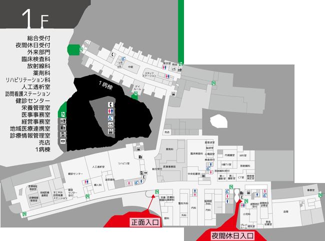 出入口制限の案内図